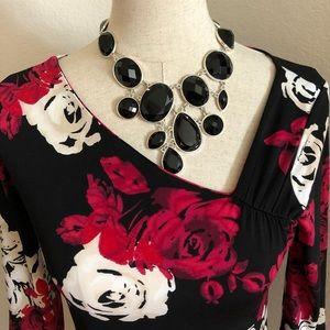 WHBM Red & Black Dress (XS)